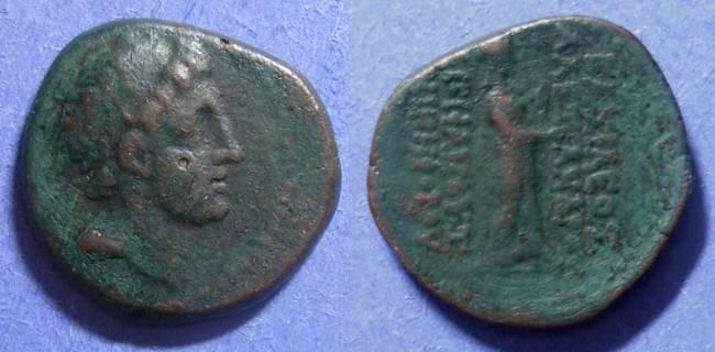 Ancient Coins - Seleucid Kingdom, Alexander II Zebina 128-123 BC, AE 21