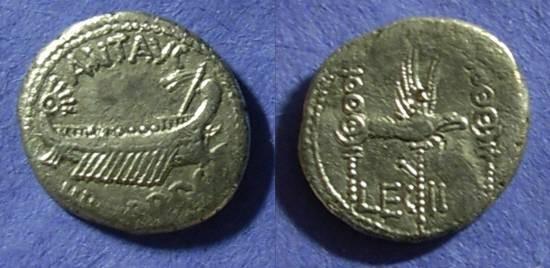 Ancient Coins - Marc Antony- Legionary denarius of 32/31 BC