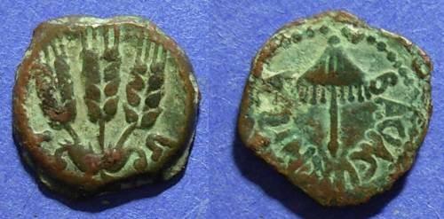 Ancient Coins - Judaea, Agrippa I 37-44 AD, Prutah