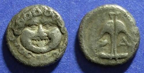 Ancient Coins - Apollonia, Thrace Circa 400 BC, Drachm
