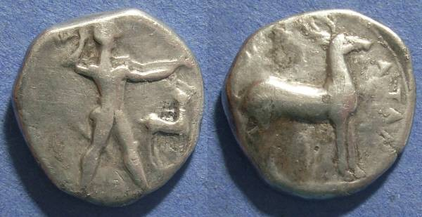 Ancient Coins - Kaulonia, Bruttium Circa 400-390 BC, Nomos