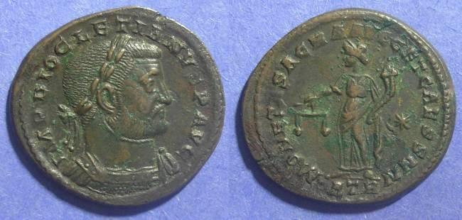 Ancient Coins - Roman Empire, Diocletian 284-305 AD, Follis