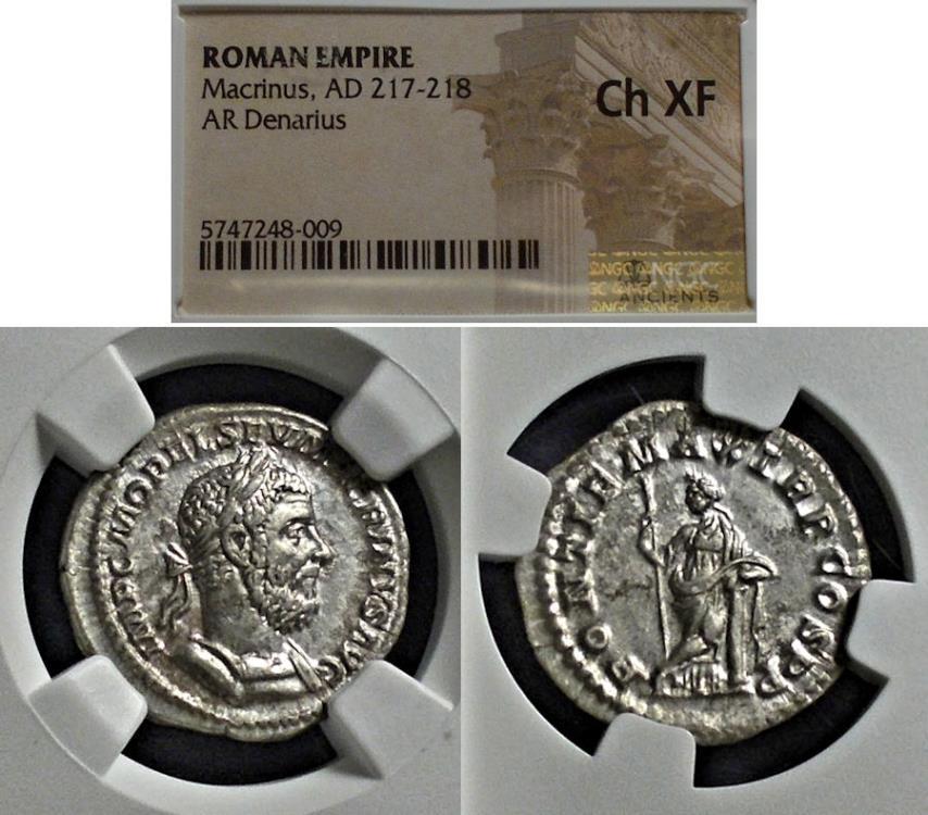 Ancient Coins - Roman Empire, Macrinus 217-8, Denarius