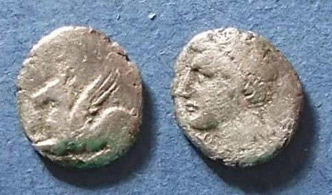 Ancient Coins - Corinth or colony Circa 300 BC, Hemidrachm