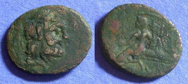 Ancient Coins - Brundisium Calabria AE22x18 Circa 200-89 BC