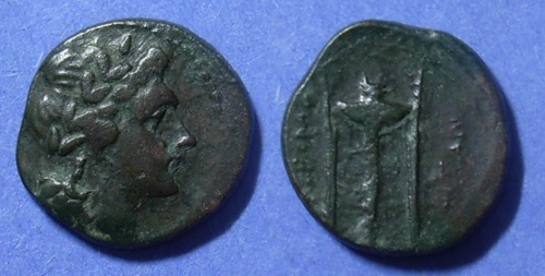 Ancient Coins - Tauromenium, Sicily Circa 310 BC, AE19
