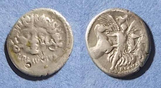 Ancient Coins - Roman Republic, L Plautius Plancus 47 BC, Denarius