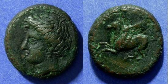 Ancient Coins - Sicily, Syracuse 344-332 BC, AE21