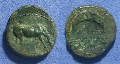 Ancient Coins - Thessaly, Pharkadon 400-344 BC, AE14