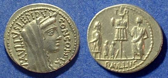Ancient Coins - Roman Republic Denarius 62BC Aemilia 10