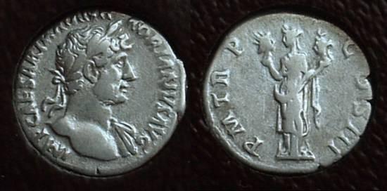 Ancient Coins - Hadrian 117-138AD Denarius - Slabbed ICG VF30