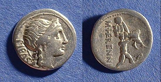 Ancient Coins - Roman Republic - Denarius 108-107 BC