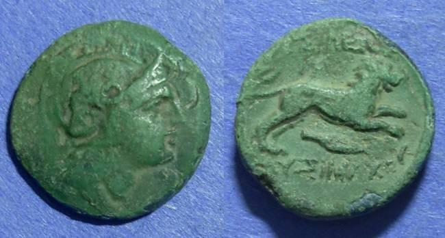 Ancient Coins - Kingdom of Thrace, Lysimachos 305-297 BC, AE19