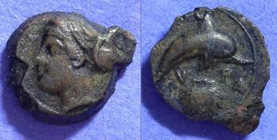 Ancient Coins - Syracuse Sicily: AE13 – 410-400BC