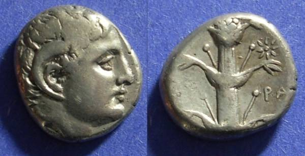 Ancient Coins - Kyrene Kyrenaica 308-277 BC Didrachm