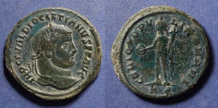 Ancient Coins - Roman Empire, Diocletian 284-305, Follis