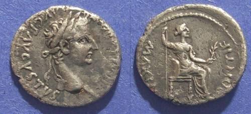 Ancient Coins - Roman Empire, Tiberius 14AD-37AD, Denarius
