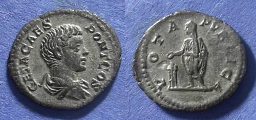 Ancient Coins - Roman Empire, Geta (Caesar) 198-208 AD, Denarius
