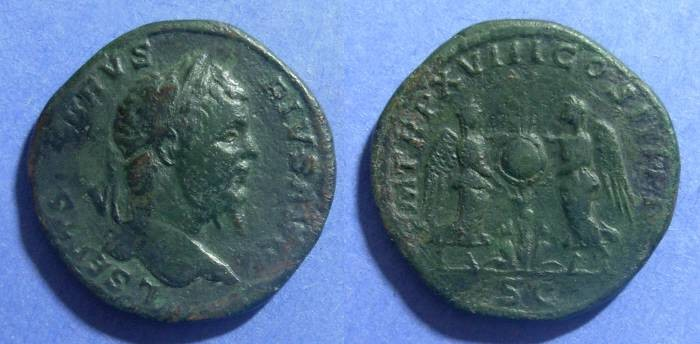 Ancient Coins - Roman Empire, Septimius Severus 193-211 AD, Sestertius