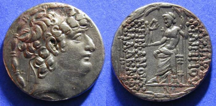 Ancient Coins - Seleucid Kingdom - Philip 93-83 BC - Tetradrachm