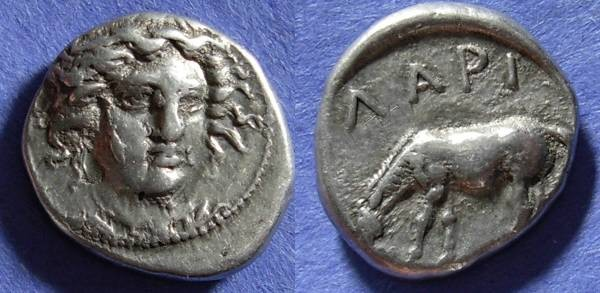 Ancient Coins - Larissa, Thessaly 400-344 BC, Drachm