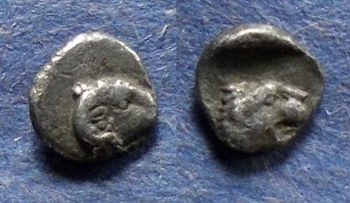 Ancient Coins - Caria, Uncertain city 400-340 BC, Tetartemorion