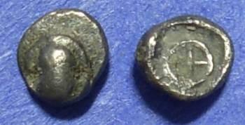 Ancient Coins - Thebes Boeotia 480-450BC Tetartemorion