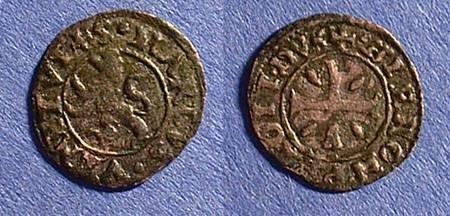 Ancient Coins - Venetian Cyprus - Girolamo Priuli - Denier 1559-67