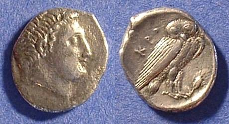 Ancient Coins - Kroton Bruttium Drachm 380-350 BC - Rare type