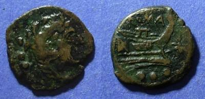 Ancient Coins - Roman Republic, Anonymous 169-158 BC, Quadrans