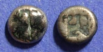 Ancient Coins - Lesbos, Uncertain mint 480-450 BC, Hemiobol