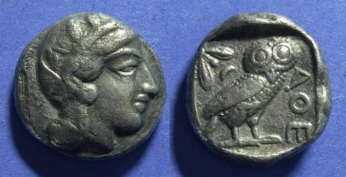 Ancient Coins - Attica, Athens 449-413 BC, Tetradrachm
