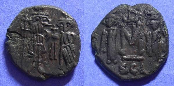 Ancient Coins - Constans 641-668AD Follis of Syracuse