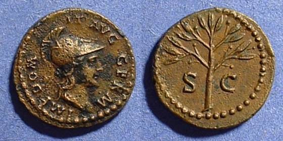 Ancient Coins - Domitian 81-96AD - AE Quadrans