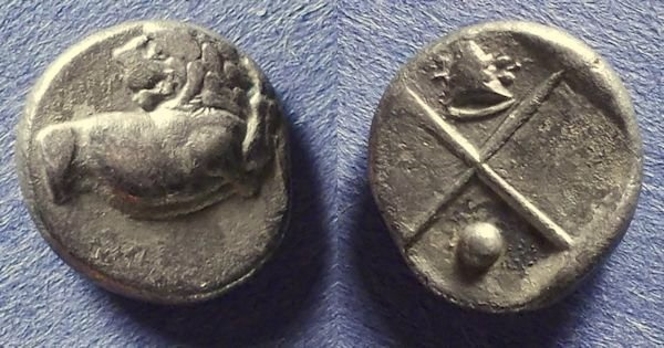 Ancient Coins - Thrace, Chersonesos 400-350 BC, Hemidrachm