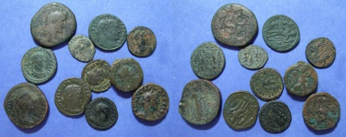 Ancient Coins - A group of 11 Roman and provincial coins...