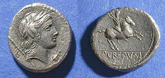 Ancient Coins - Republic Denarius - Crepusia 1- 82 BC