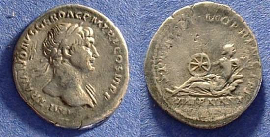 Ancient Coins - Trajan - 98-117 Denarius - Via Traiana reverse