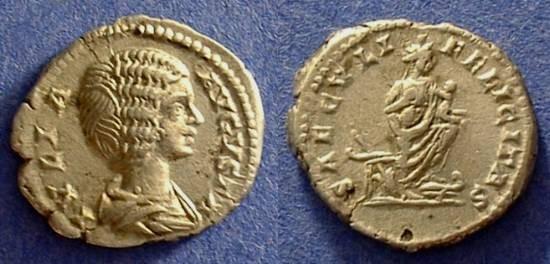 Ancient Coins - Julia Domna 193-217AD Denarius
