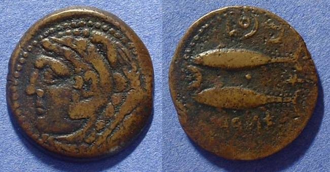 Ancient Coins - Gades Spain - AE25 2nd-1st Century BC