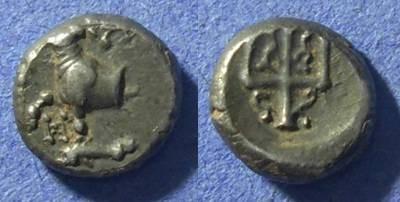 Ancient Coins - Thrace, Byzantium 357-340 BC, Hemidrachm
