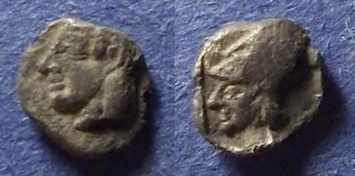 Ancient Coins - Uncertain, Western Asia Minor Circa 450 BC, Tetartemorion