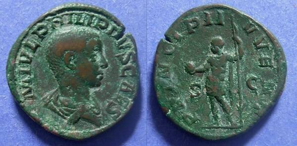 Ancient Coins - Roman Empire, Philip II (Caesar) 244-7, Sestertius