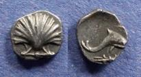 Ancient Coins - Calabria, Taras 325-280 BC, Litra