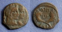 Ancient Coins - Nabataean Kingdom, Aretas IV and Shaqilat 9BC - 40AD, AE17