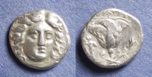 Ancient Coins - Rhodes, Peisikrates magistrate 205-190 BC, Drachm