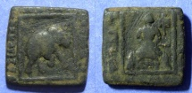 Ancient Coins - Indo-Skythians, Maues 90-60 BC, AE Quadruple unit 21mm