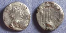 Ancient Coins - Roman Imperatorial, Brutus 42 BC, Fourree Denarius