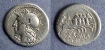 Ancient Coins - Roman Republic, M Baebius Q f Tampilus 137 BC, Denarius