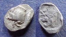 Ancient Coins - Mysia, Kyzikos 480-450 BC, Hemiobol